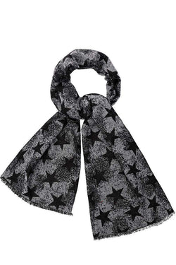 Star Print Denim Blue Winter Scarf - SinglePrice