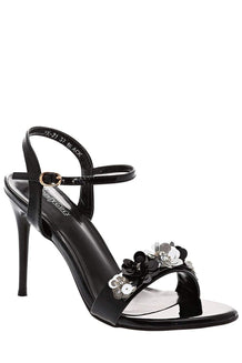 Strappy Black High Heel Sandals-Single price