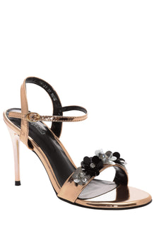 Strappy Rose High Heel Sandals-Single price
