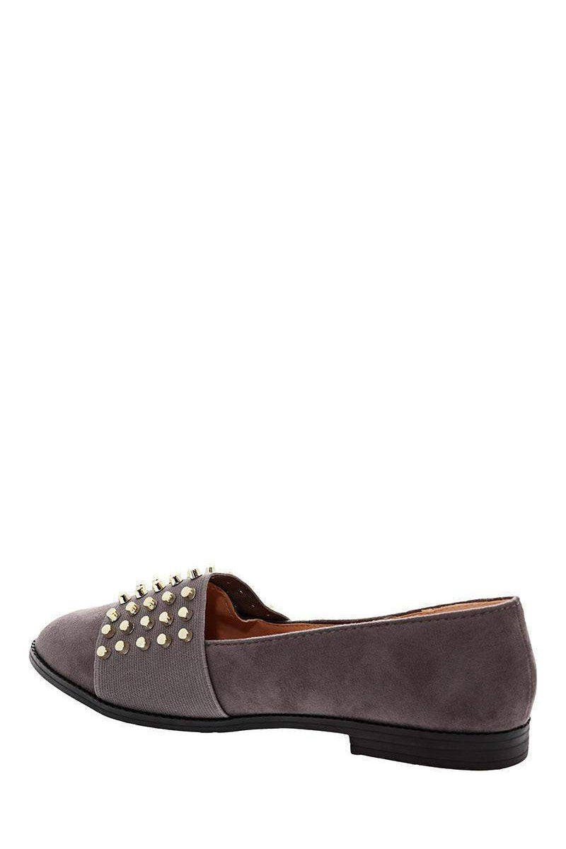 Studded Front Grey Flats-Single price