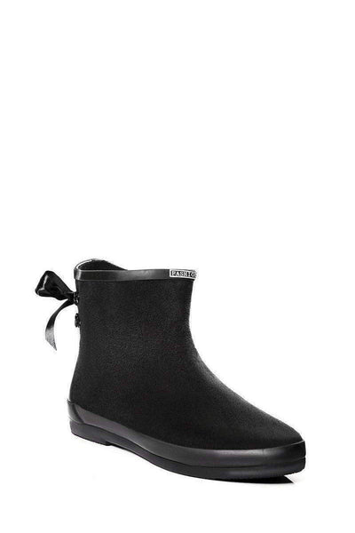 Tie Up Black Ankle Welly Boots-Single price