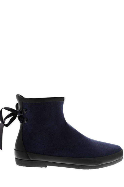 Tie Up Blue Ankle Welly Boots-SinglePrice
