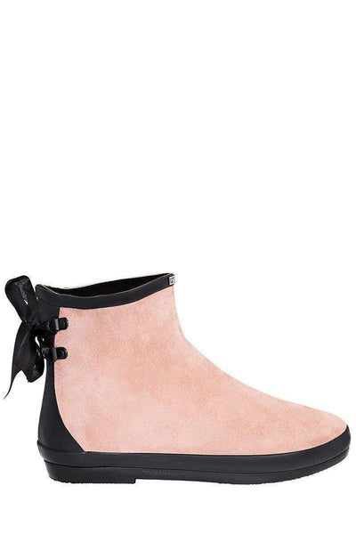 Tie Up Pink Ankle Welly Boots-SinglePrice