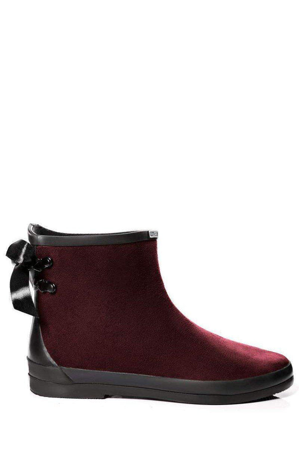 Tie Up Wine Ankle Welly Boots-SinglePrice
