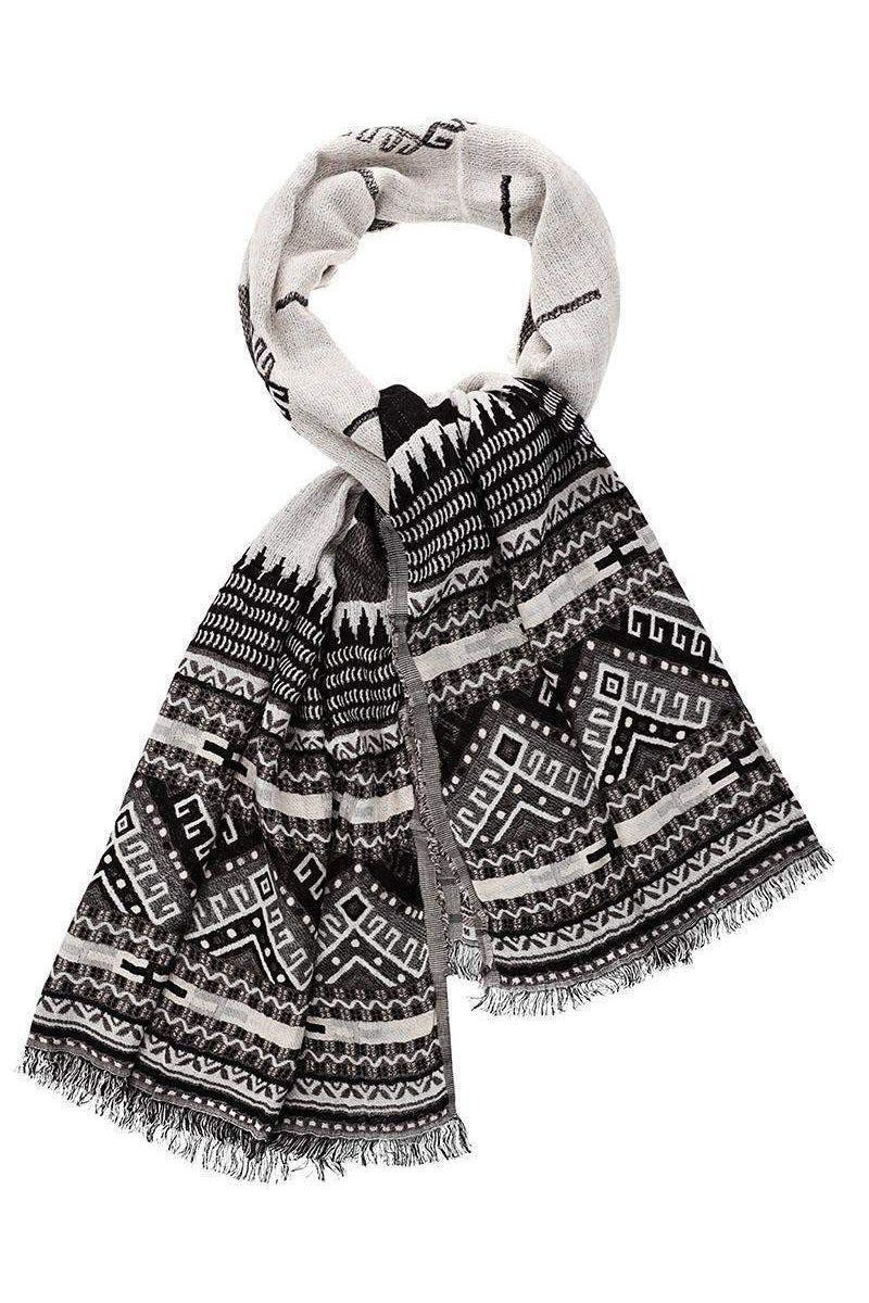 Tribal Pattern Black Scarf-Single price