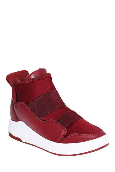 White Wedge Red Trainers-Single price
