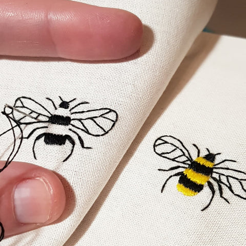 hand embroidery bees