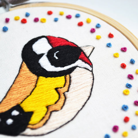 goldfinch embroidery