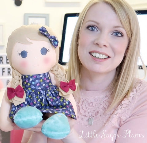 Aimie and doll from little sugar plums