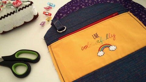 Live colourfully bag work in progress