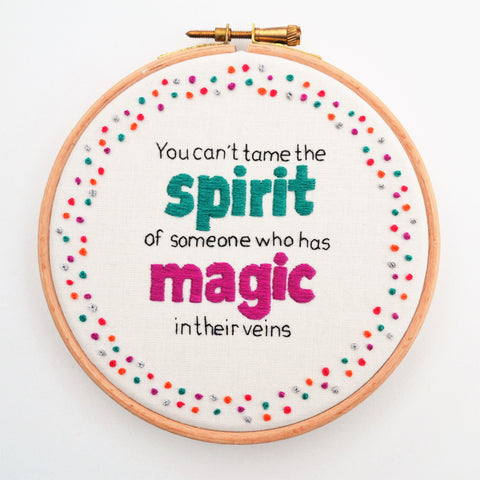 Inspirational Hand Embroidery Quote Wall Hanging