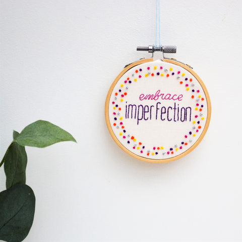 Miniature Inspirational Embroidery Hoop Art
