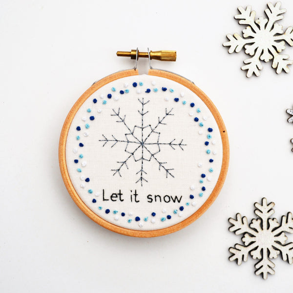 Personalised Sparkle Snowflake Hand Embroidery