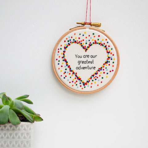 Nursery Rainbow Hand Embroidery Hoop Art