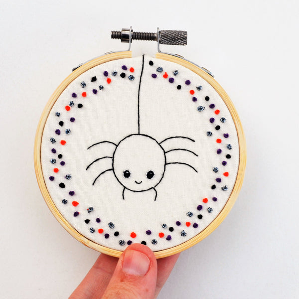 Halloween Spider Mini Hand Embroidery Hoop