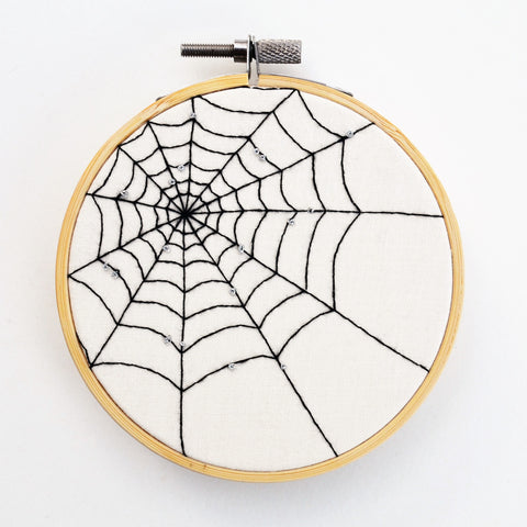 Spiderweb Hand Embroidery 4 Inch Hoop Art