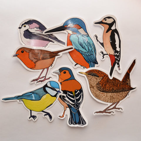 British Birds Vinyl Stickers Set or Individual Stickers