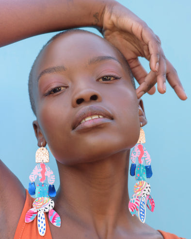 Oceanic Rave Statement Earrings