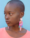 Banana Flower Statement Earrings
