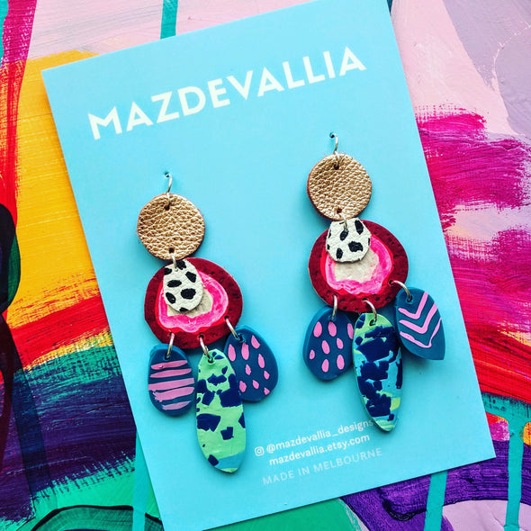 Mira Rafflesia Statement Earrings
