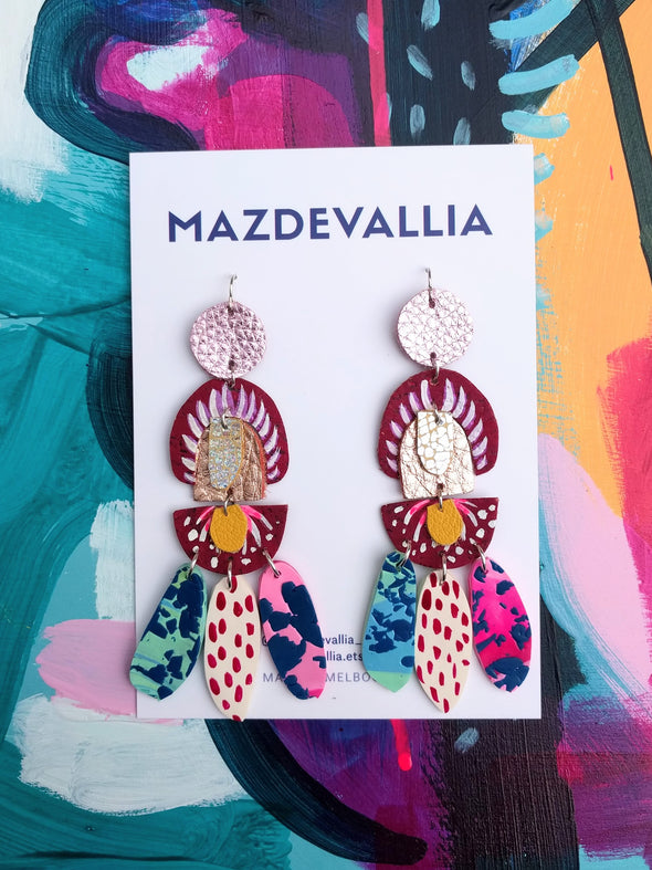 Rafflesia Statement Earrings