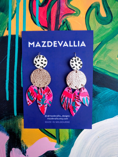 Fire Orchid Statement Earrings