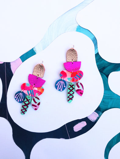 Heliconia Statement Earrings