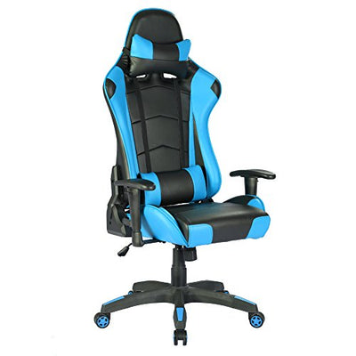 Silla gaming racing ergonómica azul Intimate WM Heart