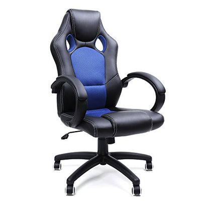 Silla de escritorio gaming Ergonómica Regulable color Azul-Negro