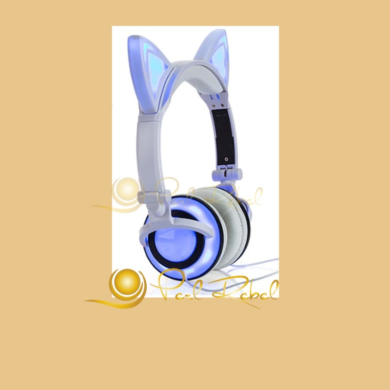 Cat Ear - Le Casque Audio - Lexpression - Le Son - Blanc Casque Audio Lumineux