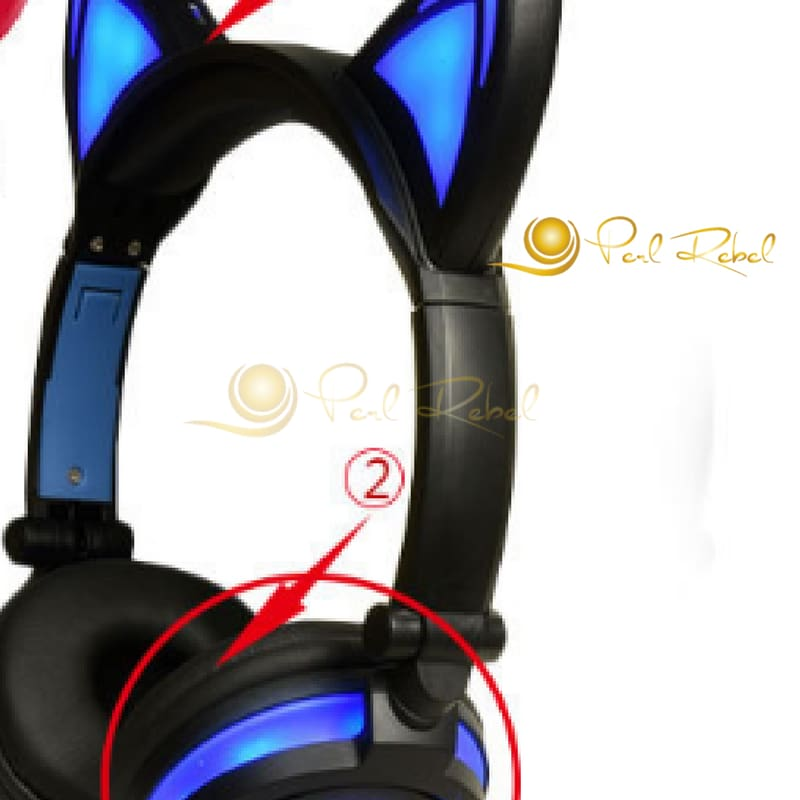 Cat Ear - Le Casque Audio - Lexpression - Le Son - Noir/bleu Casque Audio Lumineux
