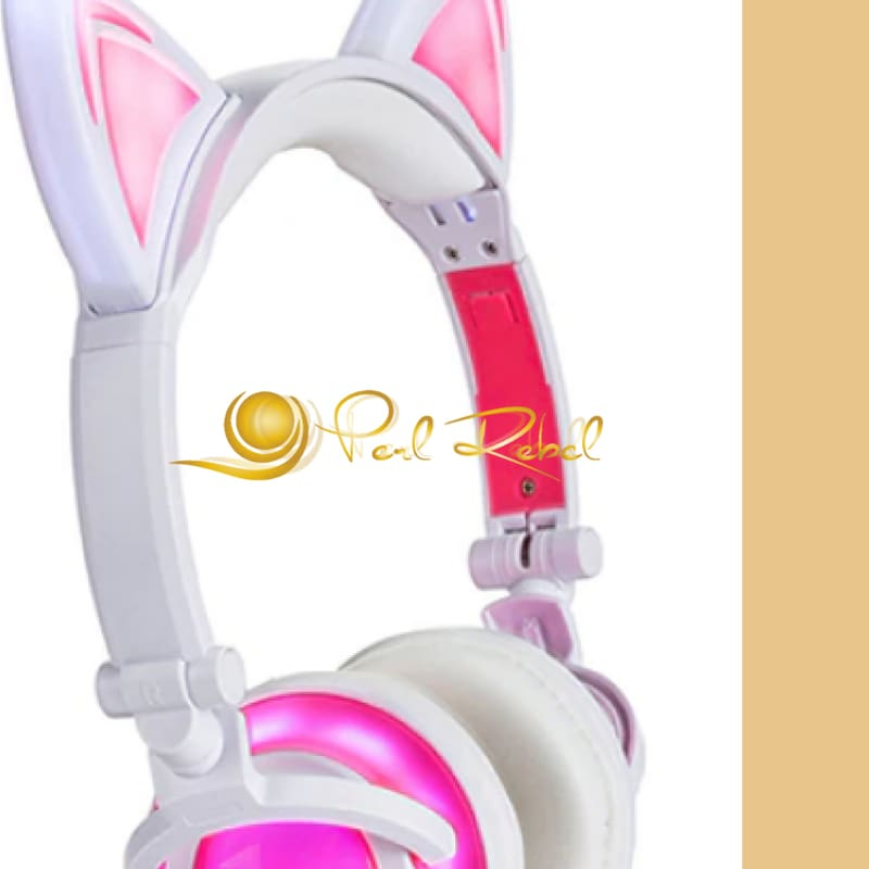 Cat Ear - Le Casque Audio - Lexpression - Le Son - Rose Casque Audio Lumineux