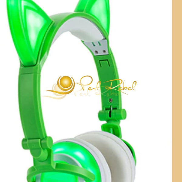 Cat Ear - Le Casque Audio - Lexpression - Le Son - Vert Casque Audio Lumineux