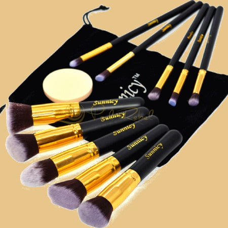 Kit De 10 À 14 Pinceaux Maquillage Doree Pinceau Maquillage