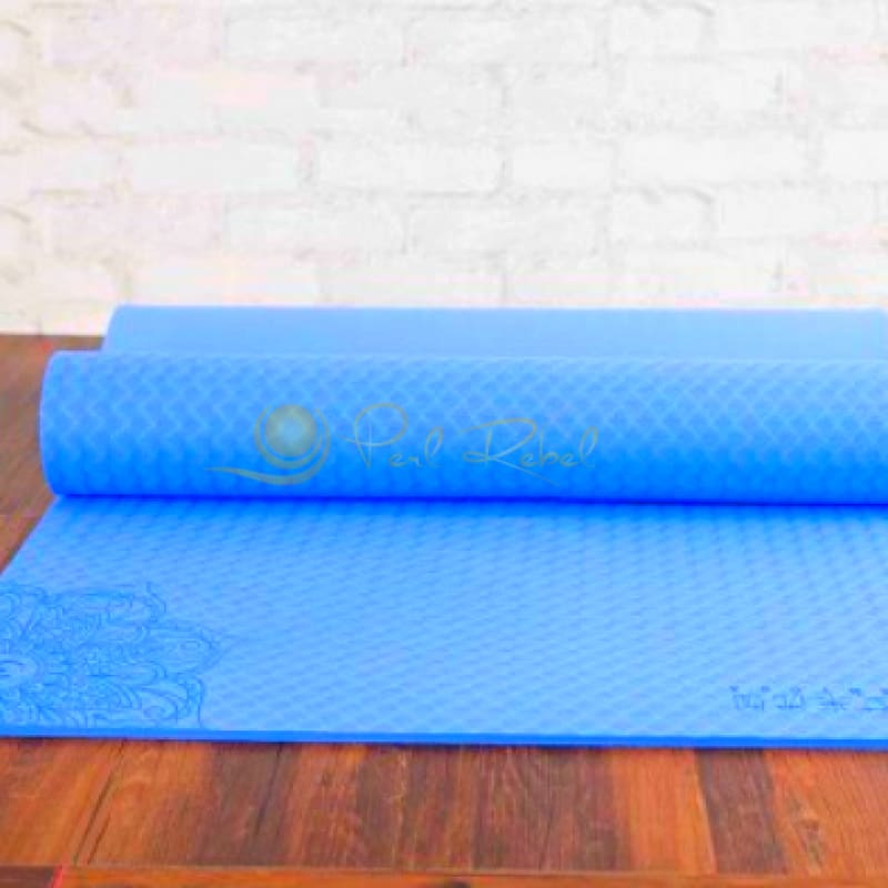 Pilates - Yoga & Fitness Mat - Sac Inclu - Amyoga 183/61/0 6 Bleu Tapis Yoga/