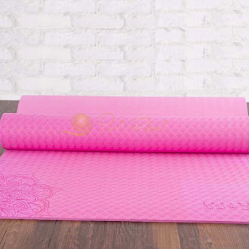 Pilates - Yoga & Fitness Mat - Sac Inclu - Amyoga 183/61/0 6 Rose Tapis Yoga/
