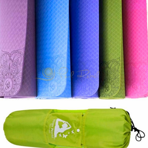 Pilates - Yoga & Fitness Mat - Sac Inclu - Amyoga 183/61/0 6 Tapis Yoga/