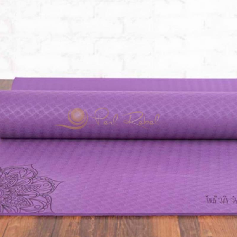 Pilates - Yoga & Fitness Mat - Sac Inclu - Amyoga 183/61/0 6 Violet Tapis Yoga/