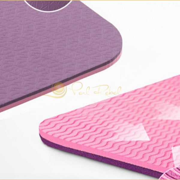 Pilates - Yoga & Fitness - Mat + Sangle Sac - Réversible - 183/61/0 6 Tapis Yoga Pilates