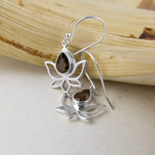 Five Petal Lotus Flower Earrings