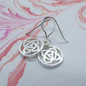 Root Chakra Hanging Earrings in a Polished finish