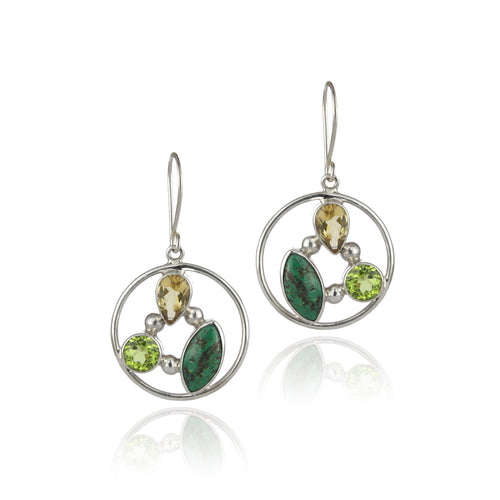 Prosperity Healing Stone Earrings