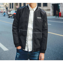 Mens Bomber Jacket with Stitching Designs