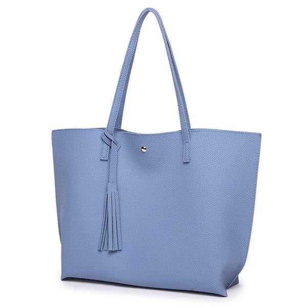 PU Leather Tassel Tote Bag (Various Color Choices & Patterns!)