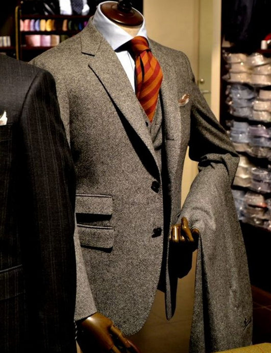 Notch Lapel Two-Button Suit Set (Jacket+Pants+Vest)