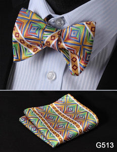 Various Bow Tie Styles & Pocket Matching Pocket Squares