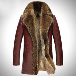 Genuine Leather Coats with fur trim suited for -40 degree Weather (Various Colors)
