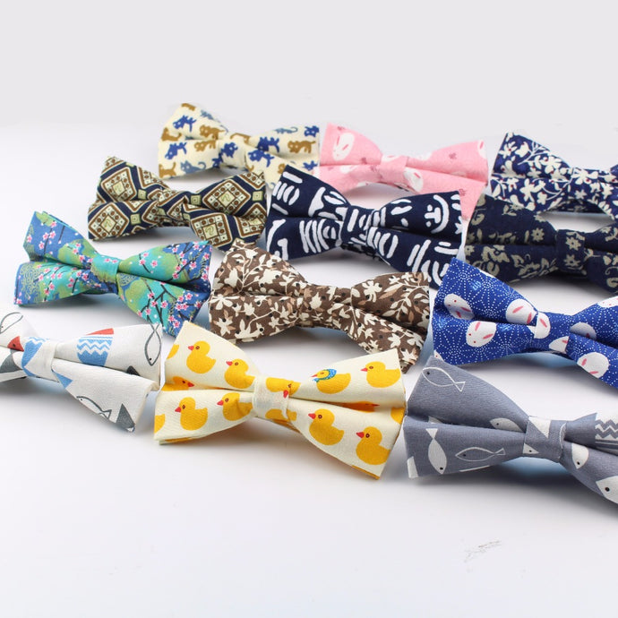 Cotton Print Designed Bow Ties (Various Designs and Color Choices!)
