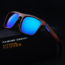 Retro Imitation Wood Sunglasses Mirrored Sun Glasses (Various Colors)