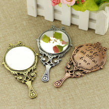 "Beauty and the Beast Necklace Or Handheld Mirrors stamped w/""Tale As Old As Time"""